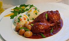Pomalené kuřecí špalíčky v pikantní omáčce a zeleninová rýže Beef, Chicken, Food, Meat, Essen, Meals, Yemek, Eten, Steak