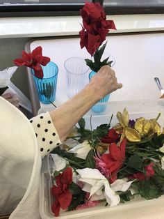 Fake flowers bring a very REAL experience to those with dementia! Great organizing box for resident interaction Nursing Home Activities, Elderly Activities, Dementia Activities, Activities For Adults, Work Activities, Montessori Activities, Color Activities, Forms Of Dementia, Dementia Care