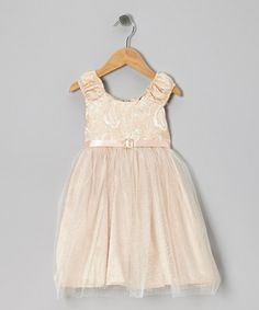 Take a look at this Peach Empressa Dress - Infant & Toddler by C'est Chouette on #zulily today!