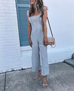 This could be my favorite jumpsuit I've worn this season. VICI DOLLS always ha. This could be my favorite jumpsuit I've worn this season. VICI DOLLS always has the best selection of daring jumpsuits and romper. // My… - Jumpsuits and Romper Thrift Fashion, Striped Jumpsuit, Trends, Western Outfits, Playing Dress Up, Spring Outfits, Cute Outfits, Rompers, Fashion Outfits