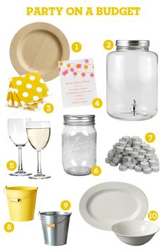 Party on a Budget! Throwing a chic party doesnt have to cost a fortune or even take that much time to plan! Here are some party on a budget tips to help you save time and money. Grad Parties, Holiday Parties, Birthday Parties, Dinner Parties, Birthday Cookout, Dinner Themes, Summer Birthday, Bbq Party, Fancy Party
