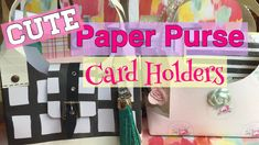 CUTE & Easy Paper Purse Card Holders // Mothers Day DIY Gift Ideas| I'm ...