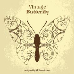 Vintage butterfly Free Vector