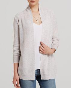 AQUA Cashmere Sweater - Novelty Stitch Cardigan | Bloomingdale's