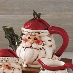 Santa Teapot from Through the Country Door®