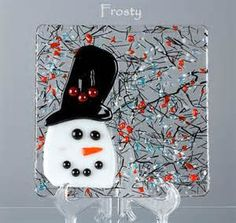 Fused Glass Plate - BluDragonfly SRA - Frosty Candy Dish