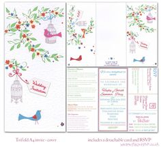 pink birdcage wedding invite Wedding Pinterest Birdcage