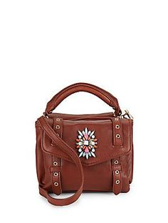 Brandy Cynthia Rowley Posy Leather Satchel Crossbody