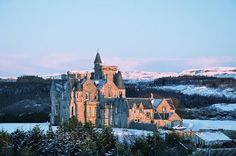 "Glengorm Castle, Tobermory, Scotland, pic from the my fave novel, ""Without Fear of Falling"""