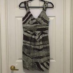 BCBG MaxAzria Sleeveless Dress BCBG Max Azria Sleeveless Dress. 68% cotton. 28% nylon. 4% spandex. BCBGMaxAzria Dresses Midi