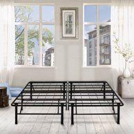Spa Sensations By Zinus Steel Smartbase Bed Frame Black Twin