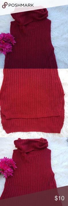 Rue 21 crochet top high-low crochet  burgundy  top. Rue21 Tops Tunics