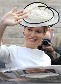 Crown Princess Mathilde of Belgium on Belgium's 182nd anniversary of independence 21 July 2012