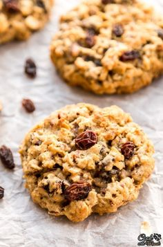 Thick, Soft classic Oatmeal Raisin Cookies. You cannot go wrong with these! Find the recipe on www.cookwithmanali.com