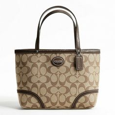 Coach Peyton Top Handle Tote Signature Bag Is Going Up For Auction At 2pm Thu May 30 With A Starting Bid Of 70