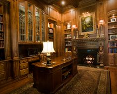 Paneled Library, Dallas area mansion