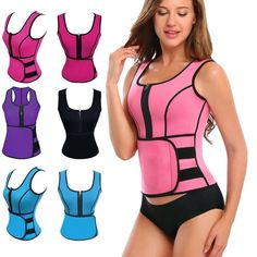 fdc881acf02 Sauna Slimming Vest Waist Trainer Adjustable Velcro Sweat Trimmer Belt