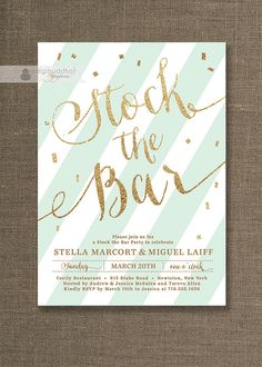 stock the bar party invitations