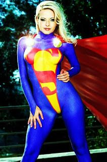 Apologise, but, Sexy supergirl body paint