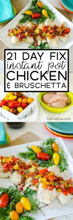 21 Day Fix Instant Pot Chicken with Bruschetta Topping