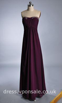 Gorgeous Strapless Chiffon Prom Dress DVP0124