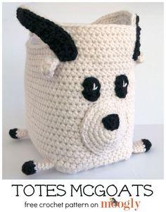 Totes McGoats... yep, it's a goat tote! Free crochet pattern on Mooglyblog.com!