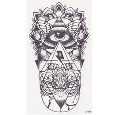 """Купить товарНовый глаз бога Временные Татуировки Наклейки тотем татуировки боди арт водонепроницаемый поддельные татуировки God """"s глаз вспышка татуировки для женщин мужчин в категории Временные татуировкина AliExpress.  за шт татуировки размер: 10.5*6 см"""