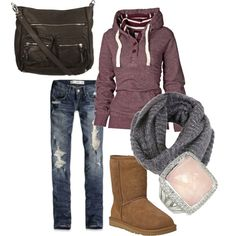 A fashion look from January 2012 featuring Fat Face, distressed jeans and ankle boots. Browse and shop related looks.
