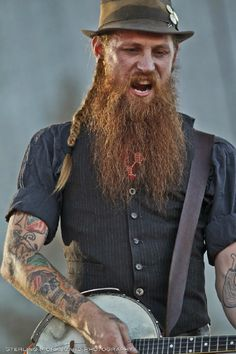 The Devil Makes Three at High Sierra Music Festival more photos at… Long Beard Styles, Americana Music, Long Beards, Ginger Beard, Beard Lover, Concert Photography, My Favorite Music, Bearded Men, Beautiful Boys