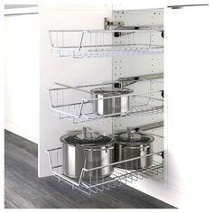 Ikea Kitchen Drawers, Kitchen Cabinet Pulls, Custom Kitchen Cabinets, Kitchen Furniture, Ikea Kitchen Organization, Cupboard, Medicine Organization, Kitchen Counters, Furniture Stores