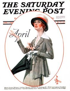 April Showers  April 5, 1919  Saturday Evening Post  J. C. Leyendecker