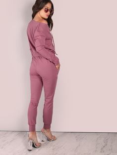 d0a20feaafe2 Online shopping for Slouchy Open Shoulder Jumpsuit LILAC from a great  selection of women s fashion clothing
