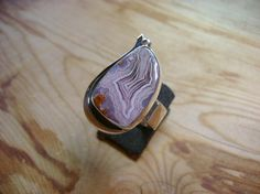 Exquisite Laguna Agate Ring  Size 7.25 by UntamedStones