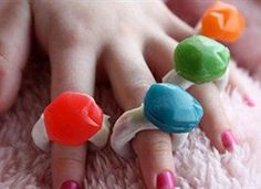 Everyone says that diamonds are a girls best friend.  But for little girls, Im convinced that its Gushers Ring Bling jewels instead!
