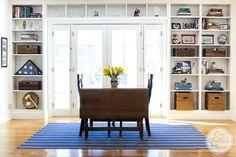 Built In Bookshelves | Ideas for adding bookshelves around a door | onsuttonplace.com