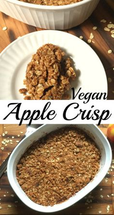 Vegan Apple Crisp Vegan Apple Crisp, Apple Harvest, Allrecipes, Lunch, Healthy Recipes, Snacks, Meals, Dinner, Vegetables
