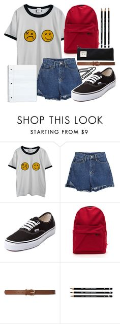 """""""School"""" by freedom2095 ❤ liked on Polyvore featuring Chicnova Fashion, Vans and Dorothy Perkins"""