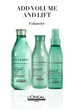 For voluminous hair and how to get hair volume, use products from the L'Oreal Professionnel Volumetry line. #haircareproductsforwomen,