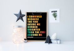 Gift Ideas For Him - Video Game Art - Game Room Art - Fallout New Vegas - I Survived - Gifts For Gamers - DIGITAL DOWNLOAD