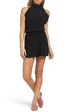 655e879edeef9 FRAICHE BY J Designer Frill Halter Romper Jumpsuits For Women, Nordstrom  Dresses, Gold Fashion