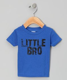 Take a look at this Royal 'Little Bro' Tee - Toddler & Boys by Micro Me on #zulily today!