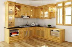 Tư vấn chọn màu tủ bếp gỗ xoan đào hài hòa với gian bếp