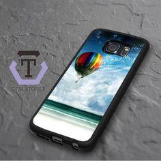 Air Balloon In The Sky Samsung Galaxy S6 Edge Black Case