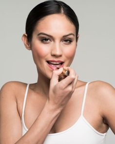 Step 3: For an elegant finish, swap the gloss for a rosy or berry lipstick.