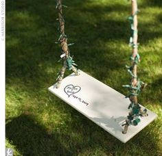 swing as decor at wedding - Google Search