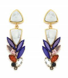 Lizzie Fortunato Porcelain Cool Earrings - WARNING: You will want everything on this insider's wish list. http://shop.harpersbazaar.com/in-the-magazine/the-insider-megan-reynolds