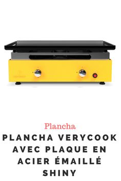 Plancha Verycook avec plaque en acier émaillé shiny Office Supplies, Plaque, Planks, Steel, Kitchens, Enamels