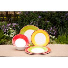 Enter for a chance to win an 18-piece set of these eye-popping bowls and dinner and salad plates from BJ's Wholesale Club!  #giveaways #sweepstakes #free #win