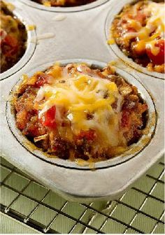 Cheesy Salsa-Mini Meatloaves – Meatloaf, meet tacos: The classic ground beef dinner favorite combines with tomato salsa and melty cheese. One of these minis has your name on it.