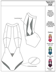Heliophilia on Behance Fashion Line, Diy Fashion, Sewing Tutorials, Sewing Patterns Free, Flat Drawings, Diy Bra, Ankara Designs, Swimsuit Pattern, Sewing Material